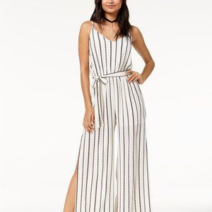 One Clothing Los Angeles Belted Striped Jumsuit